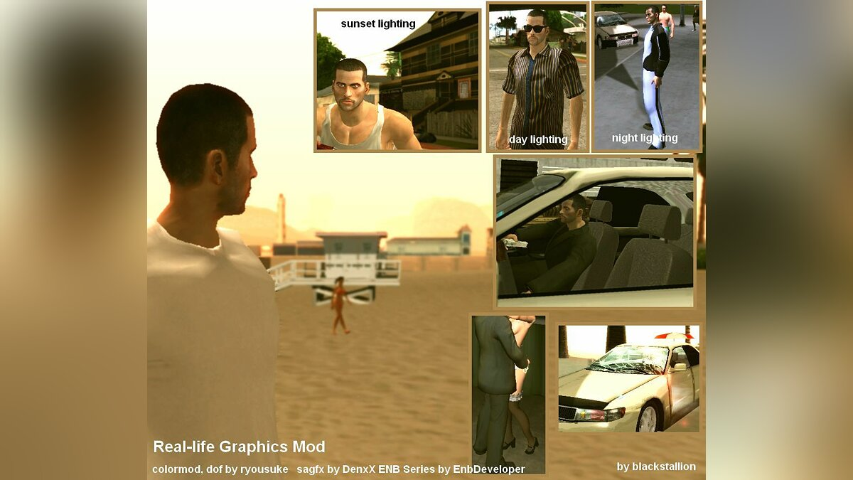 Real Life Graphics Mod для GTA San Andreas