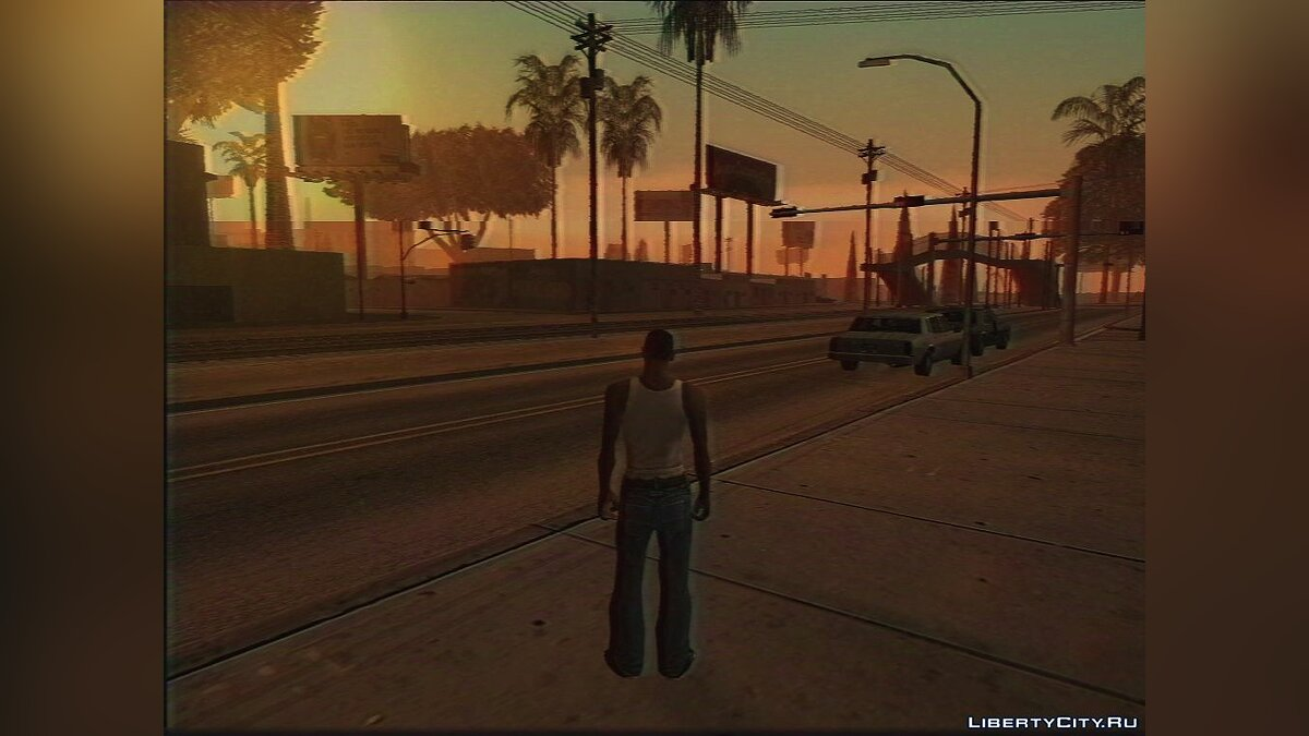 ENB мод San Andreas on VHS (ReShade) для GTA San Andreas