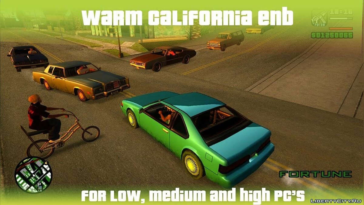 Warm California ENB for SA для GTA San Andreas