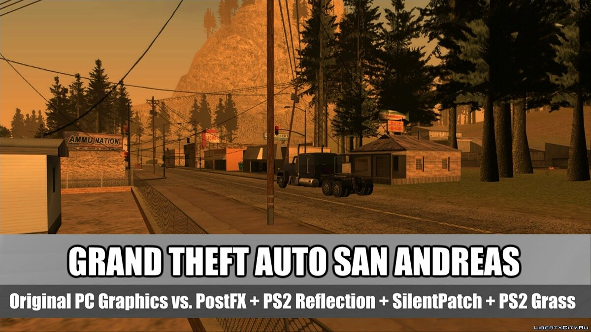 GTA San Andreas: Original PC Vs. SilentPatch & SkyGFX Graphics Comparison для GTA San Andreas