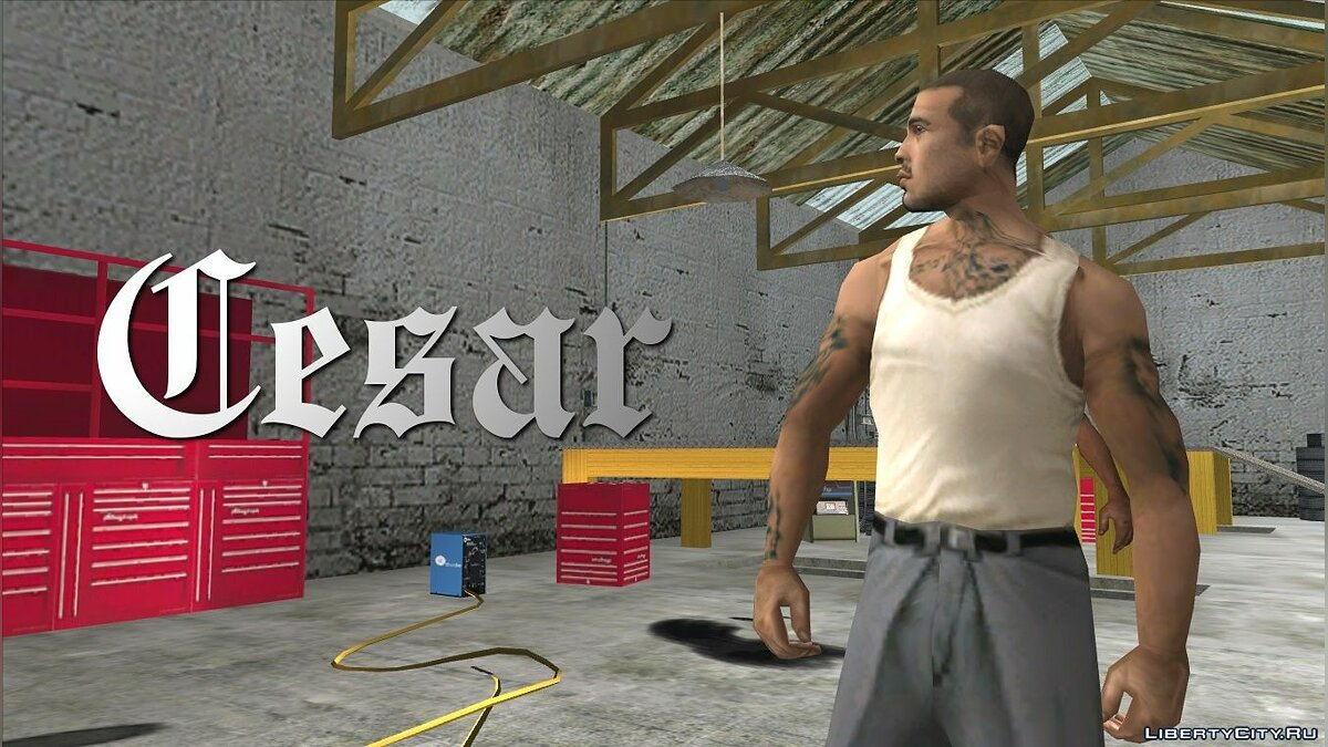 Grand Theft Auto San Andreas Characters: Cesar для GTA San Andreas