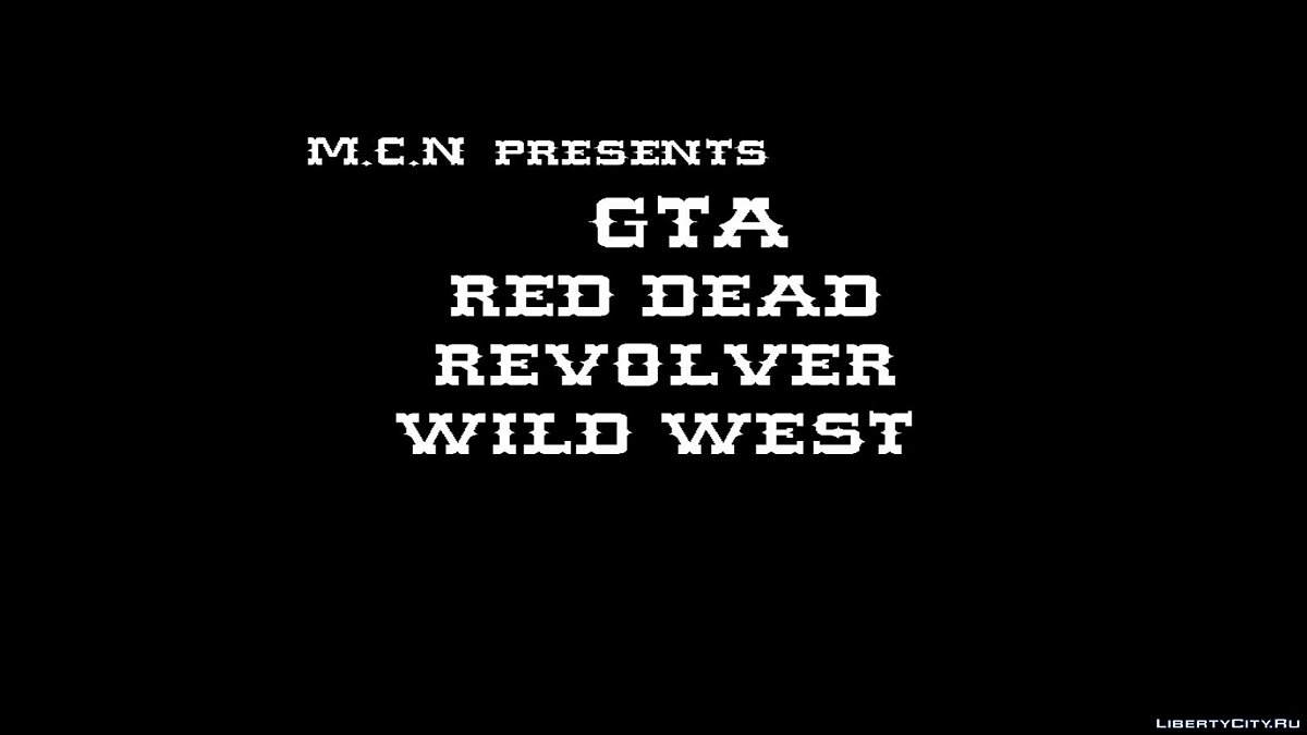 Фан видео GTA Red Dead Revolver Wild West 2019 для GTA San Andreas