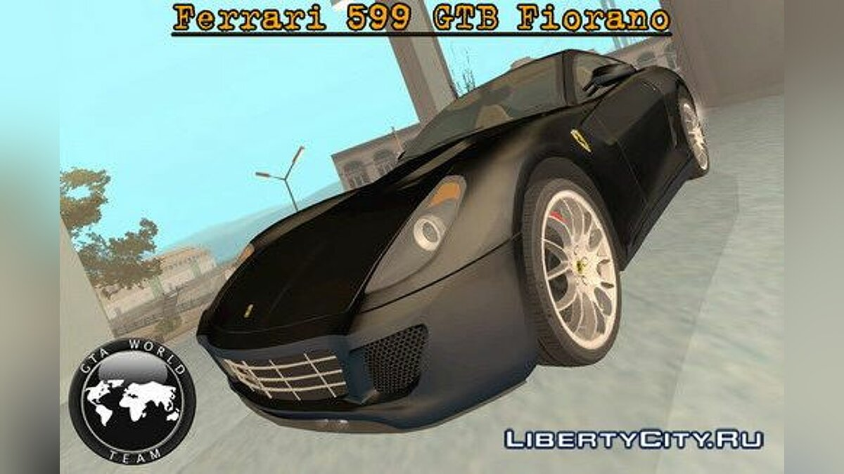 Ferrari 599 GTB Fiorano [black version] для GTA San Andreas - Картинка #1