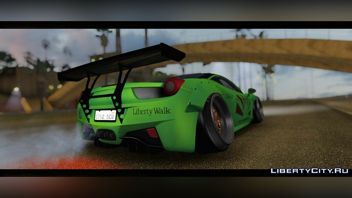 ��ашина Ferrari Ferrari 458 Liberty Walk Performance для GTA San Andreas