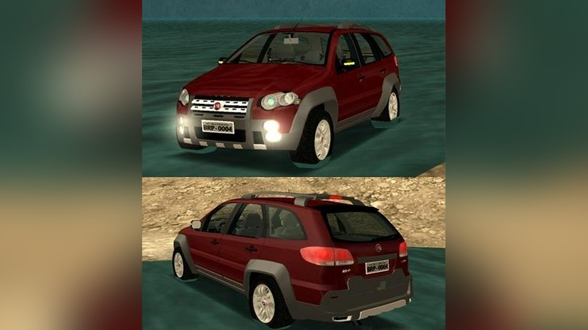 Fiat Palio Weekend Adventure Locker 2010 для GTA San Andreas