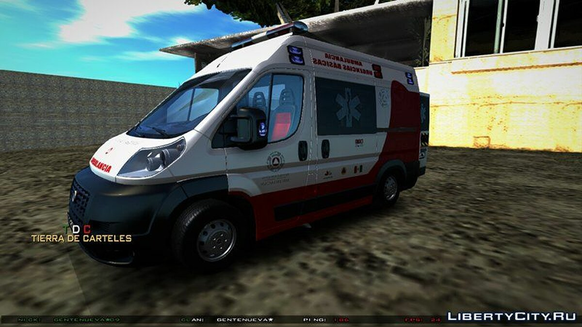 Машина Fiat Fiat Ducato Ambulancia de Proteccion Civil для GTA San Andreas