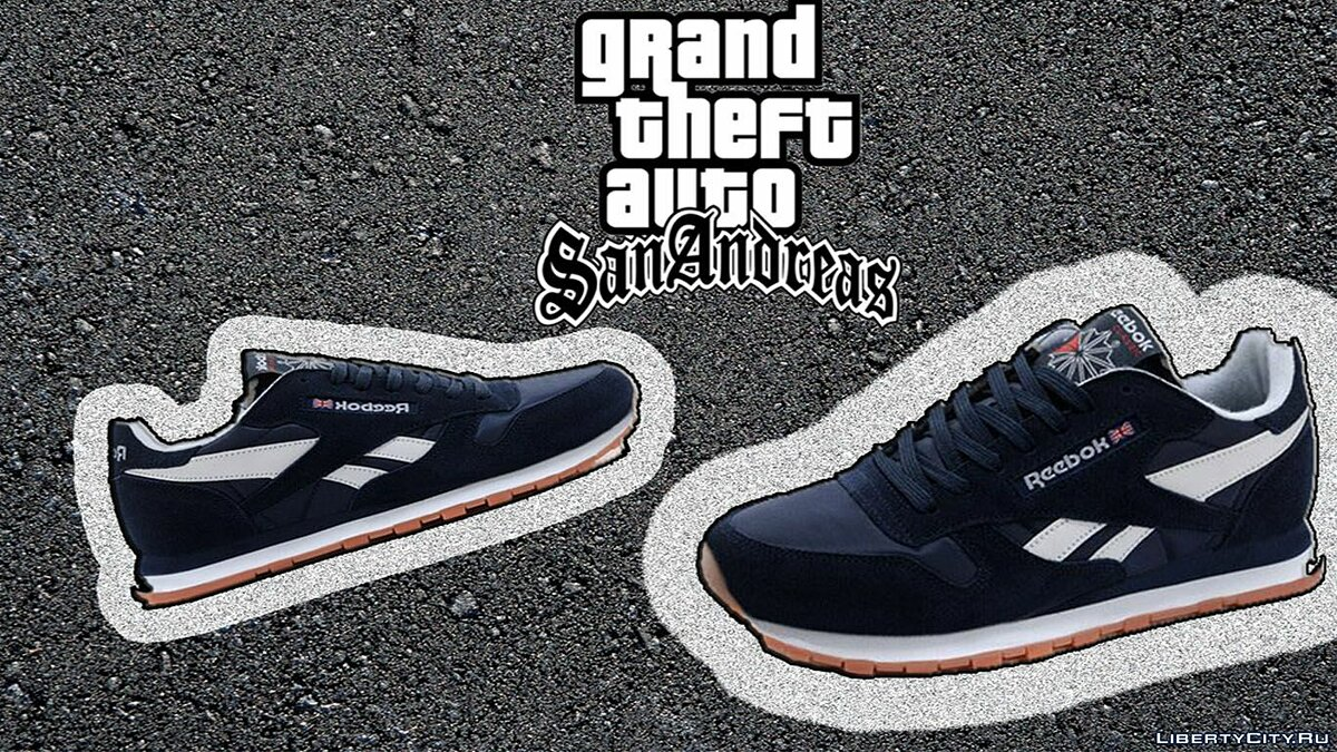 Обувь и перчатки -Reebok Classic Leather. для GTA San Andreas