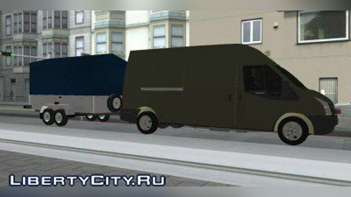 Ford transit and trailer для GTA San Andreas