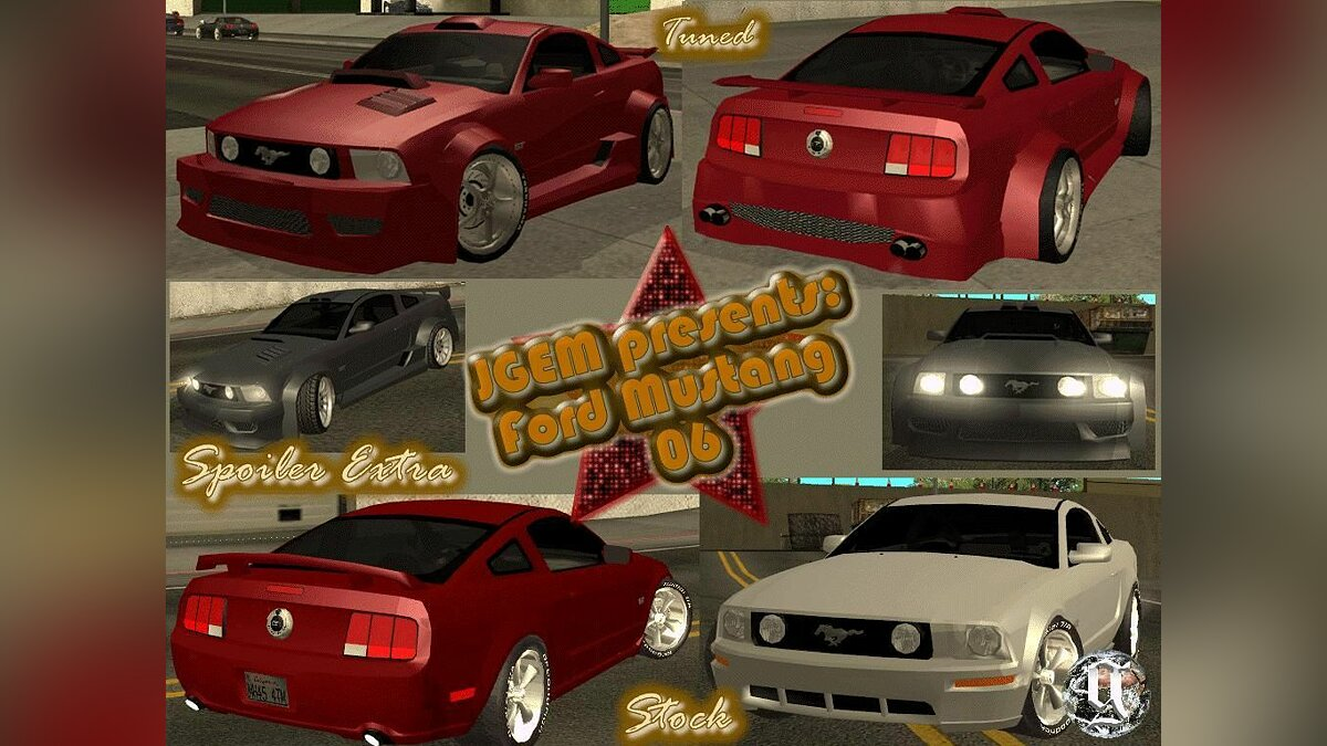 Ford Mustang TUNEABLE для GTA San Andreas