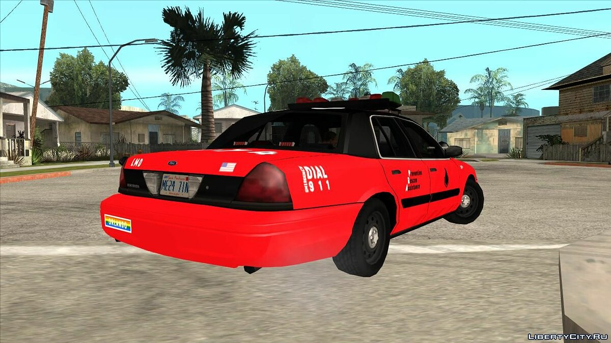 Машина Ford Ford Crown Victoria Arson Lamed для GTA San Andreas