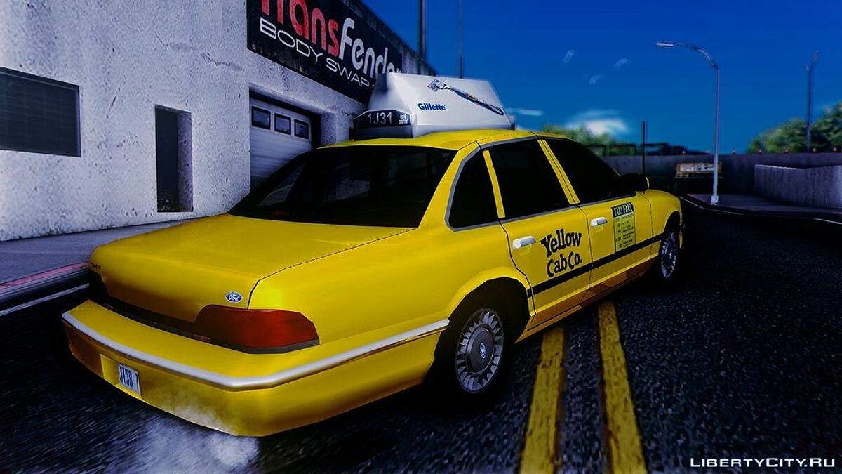 1994 Ford Crown Victoria Yellow Cab Taxi для GTA San Andreas - скриншот #2
