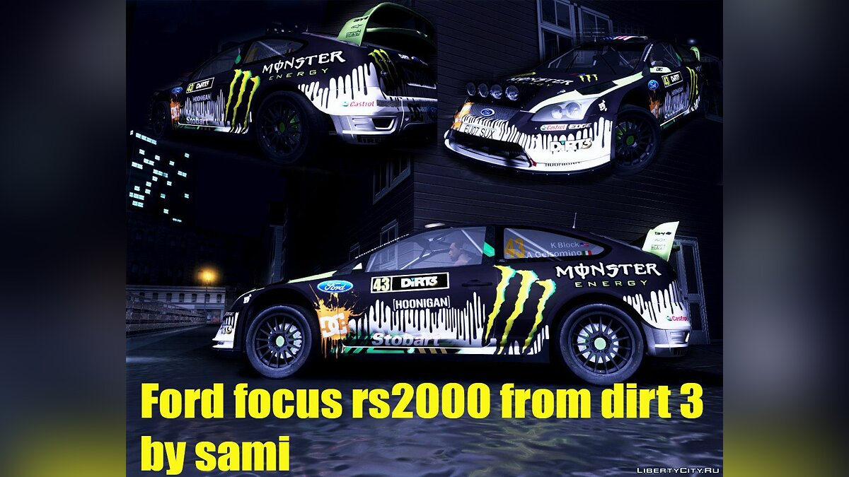 Ford Focus RS2000 WRC and Dirt3 для GTA San Andreas
