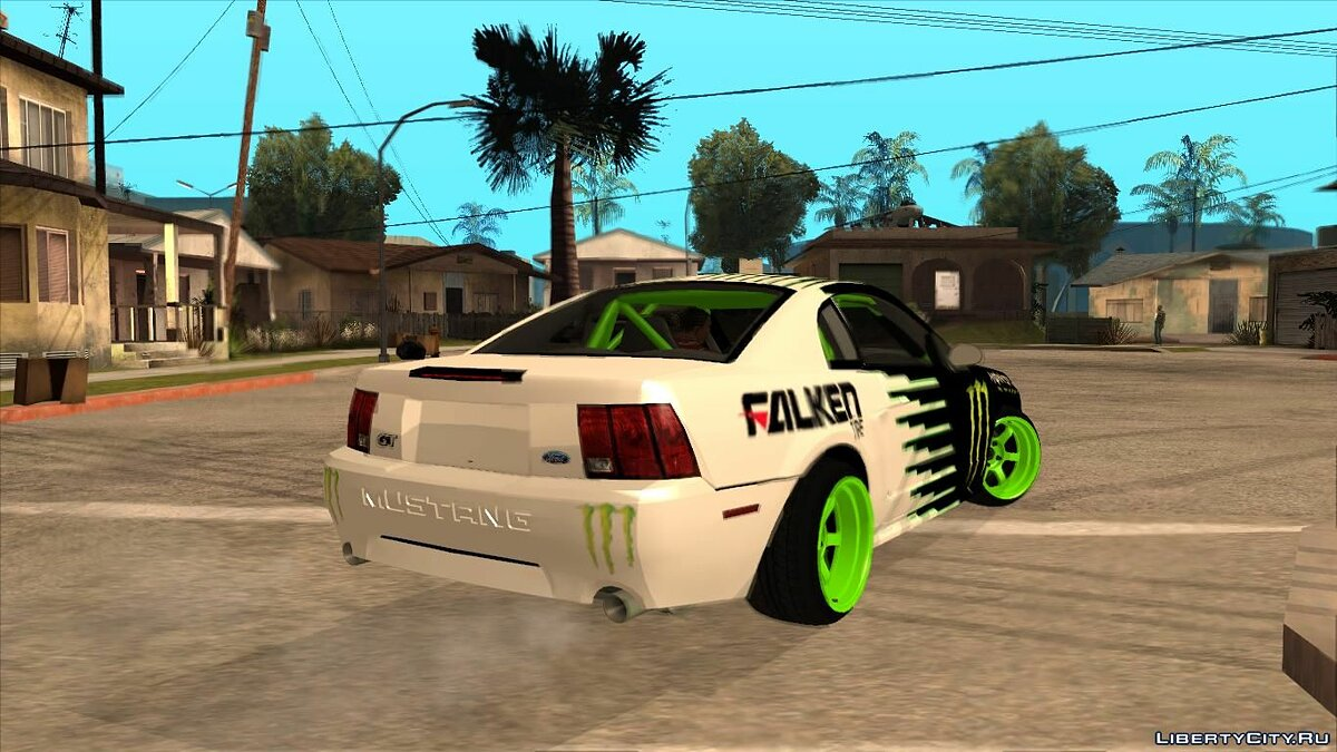 Машина Ford 1999 Ford Mustang Drift Monster Energy Falken для GTA San Andreas