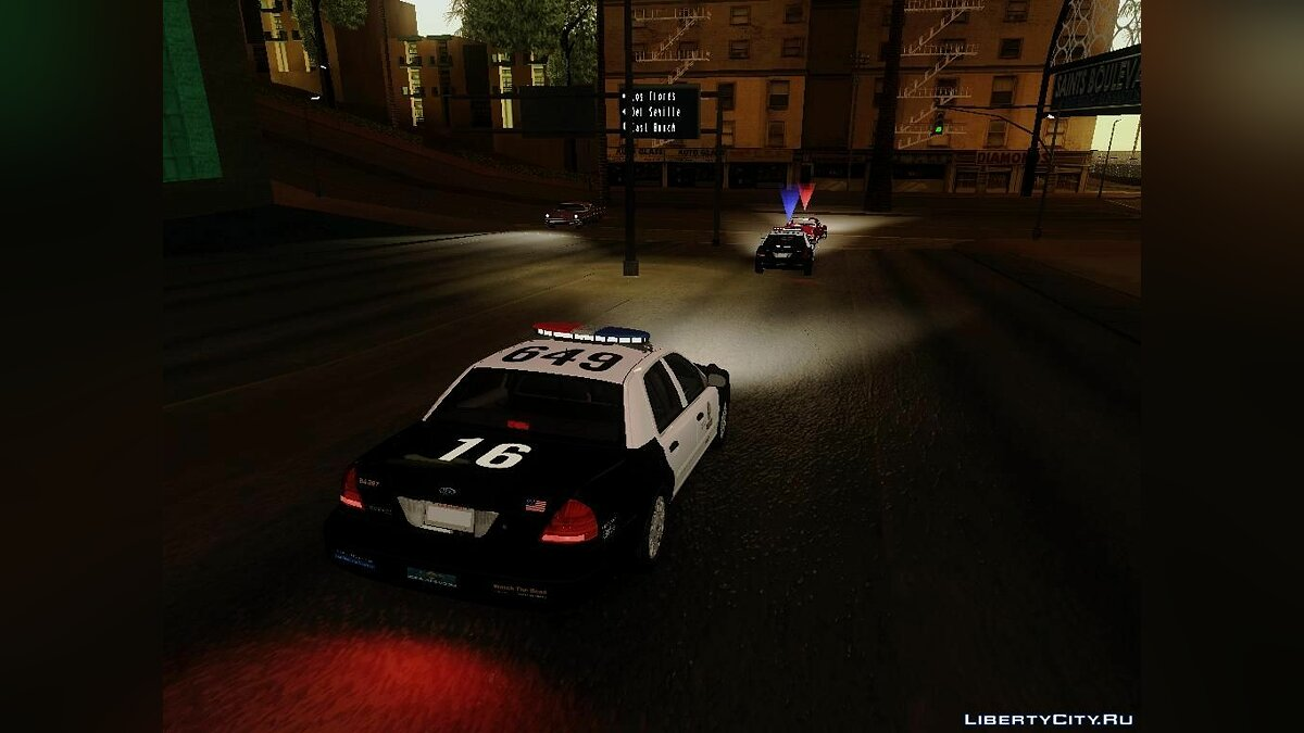 Ford Crown Victoria LAPD Interceptor для GTA San Andreas - скриншот #2