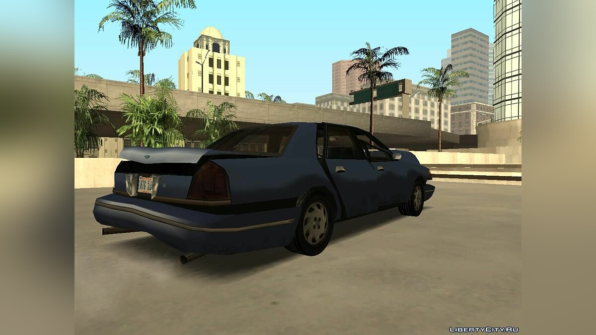 Ford Crown Victoria Low Poly для GTA San Andreas - скриншот #10