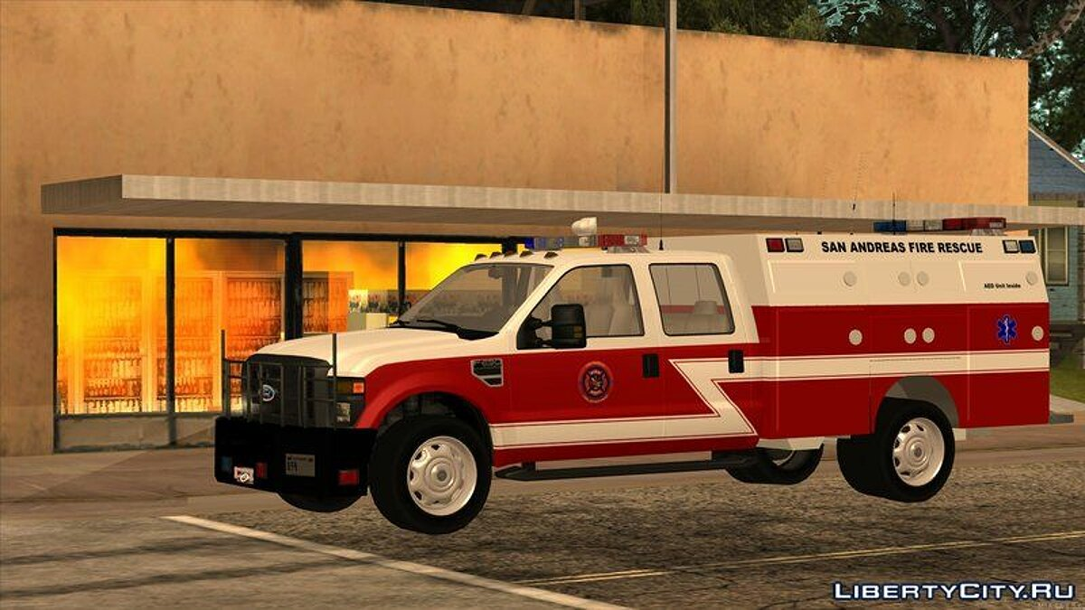 Машина Ford 2011 Ford F-250 San Andreas Fire Department для GTA San Andreas