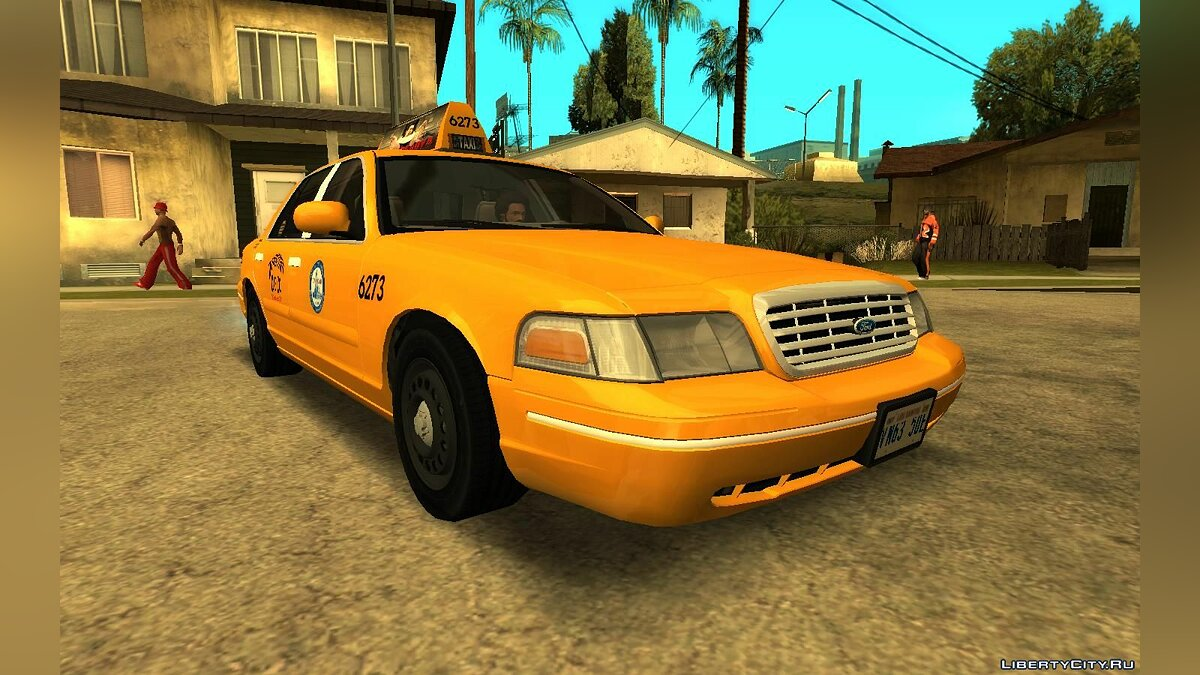 Машина Ford 2003 Ford Crown Victoria Taxi Downtown Cab v1.0 для GTA San Andreas