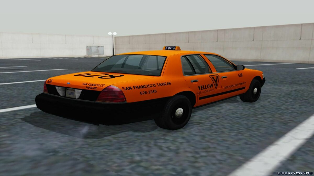 Ford Crown Victoria San Francisco Cab для GTA San Andreas - скриншот #4