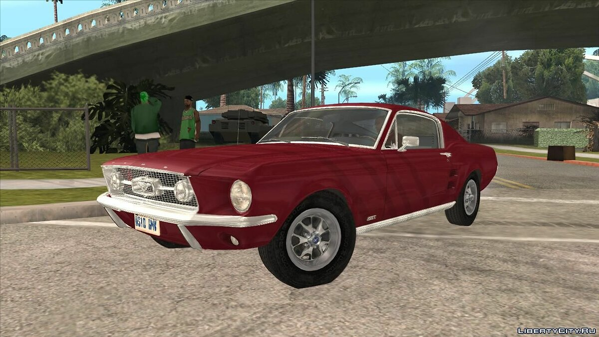 Машина Ford Ford Mustang Fastback 1967 для GTA San Andreas