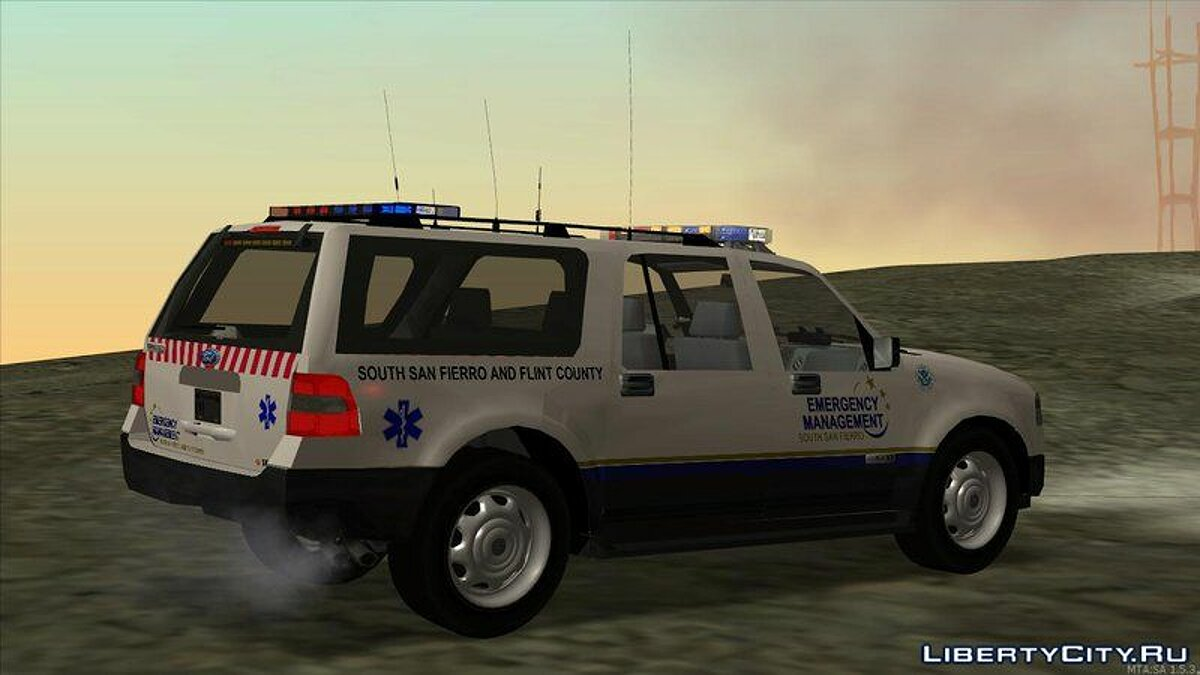 2013 Ford Expedition Flint County Emergency Management для GTA San Andreas - скриншот #4