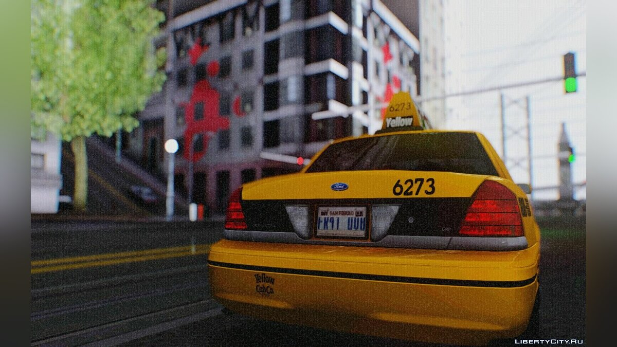 Ford Crown Victoria LA Taxi для GTA San Andreas - скриншот #3