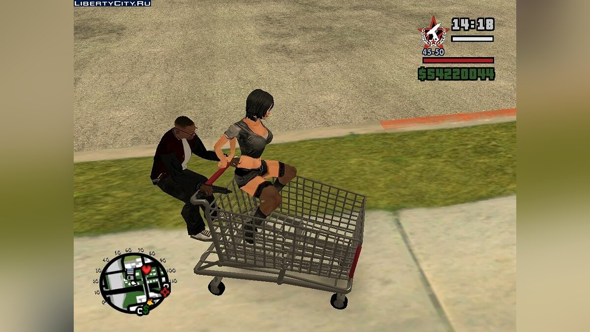 Shopping Cart Faggio V2 для GTA San Andreas
