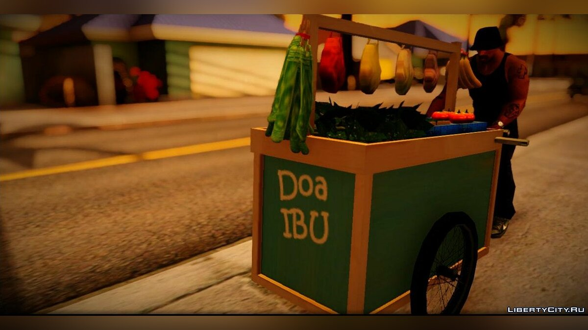 Прикольная машина Gerobak Sayur (Vegetable Carts) для GTA San Andreas