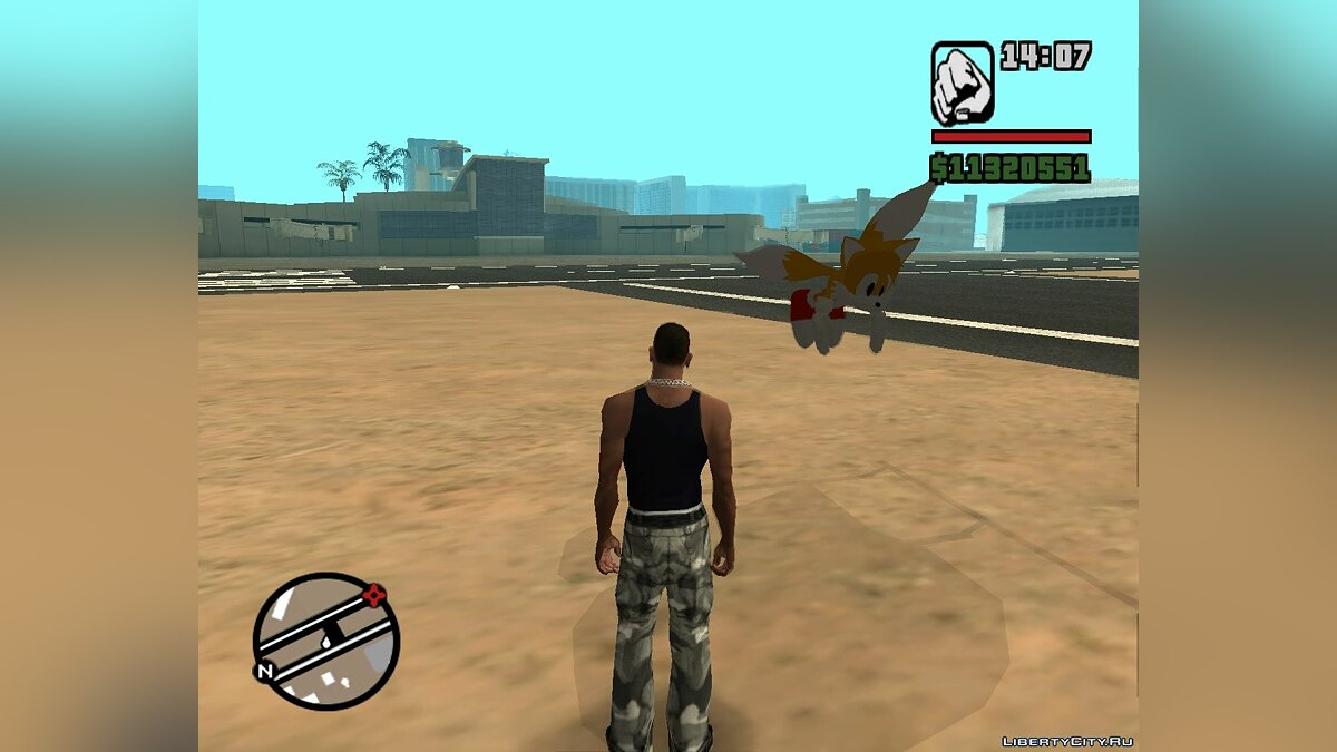 "Tails ""Miles"" the Fox Beta v. 1.0 для GTA San Andreas - скриншот #2"