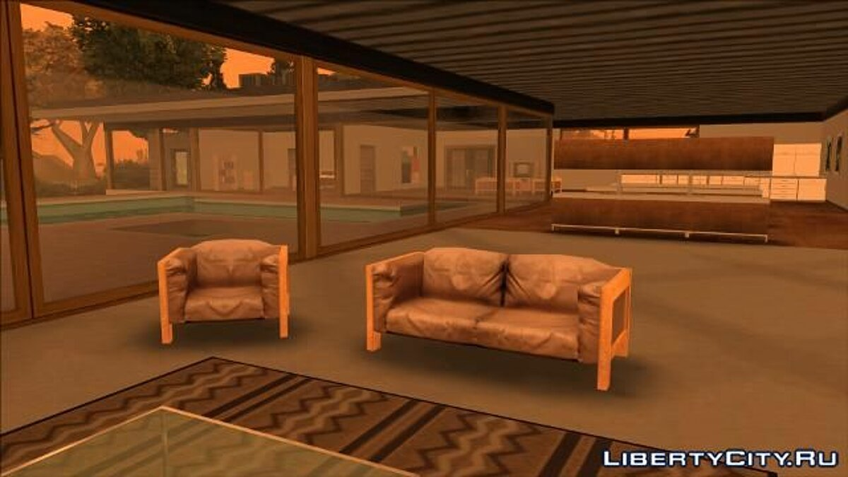 Большой мод BETA Mulholland Safehouse для GTA San Andreas