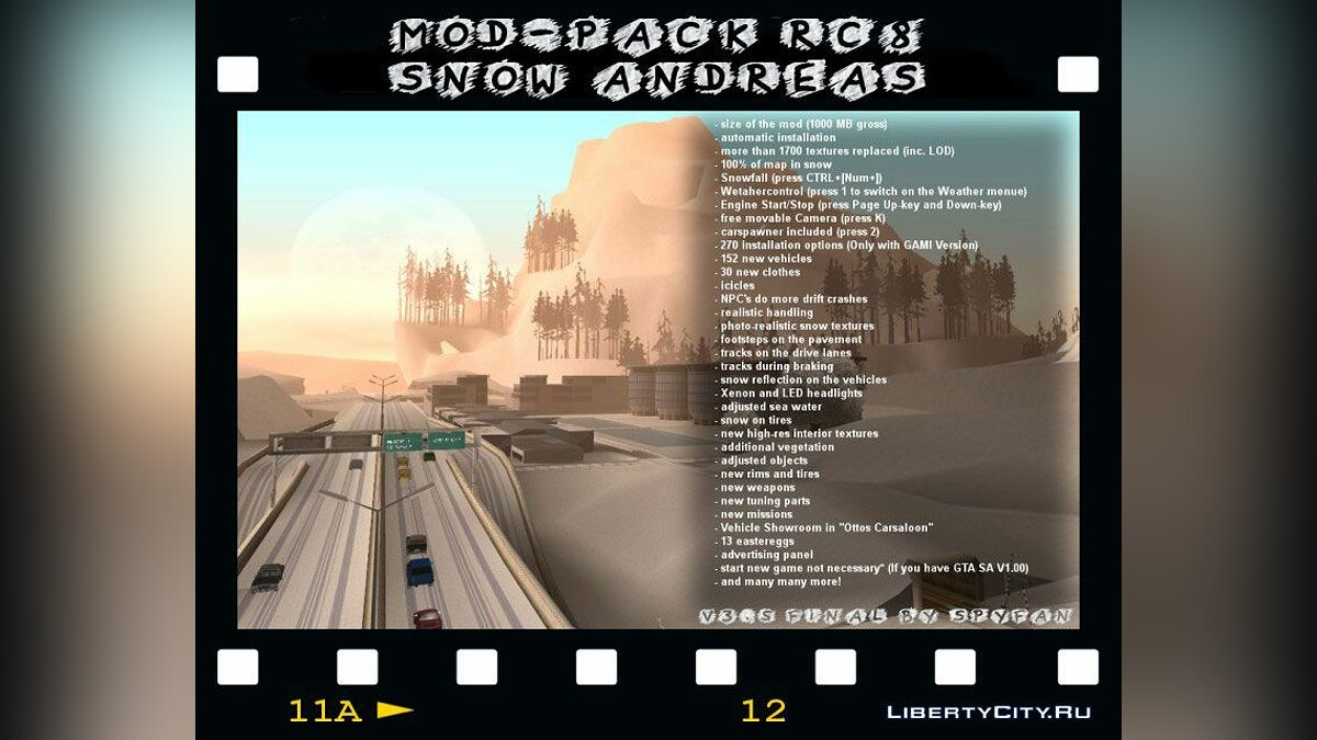 Snow Andreas v3.5 (Final) для GTA San Andreas