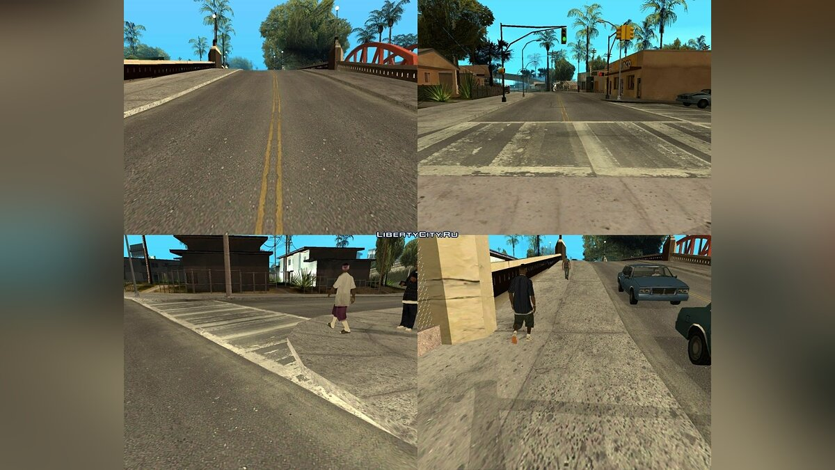 GTA IV Roads for Los Santos V2 Beta для GTA San Andreas