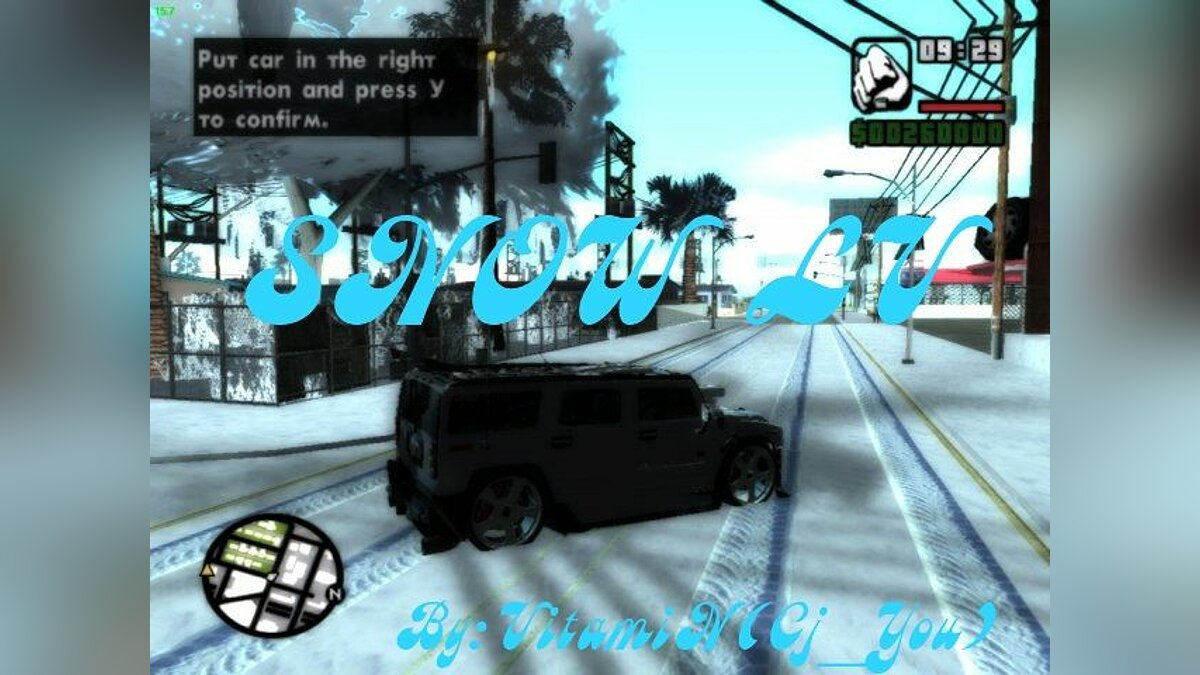 Winter in Las-Venturas v.1.0 для GTA San Andreas
