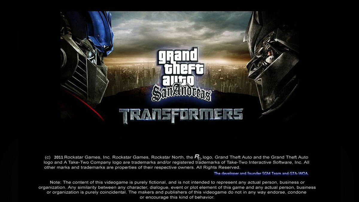 Transformers: War Of CyberTron для GTA San Andreas