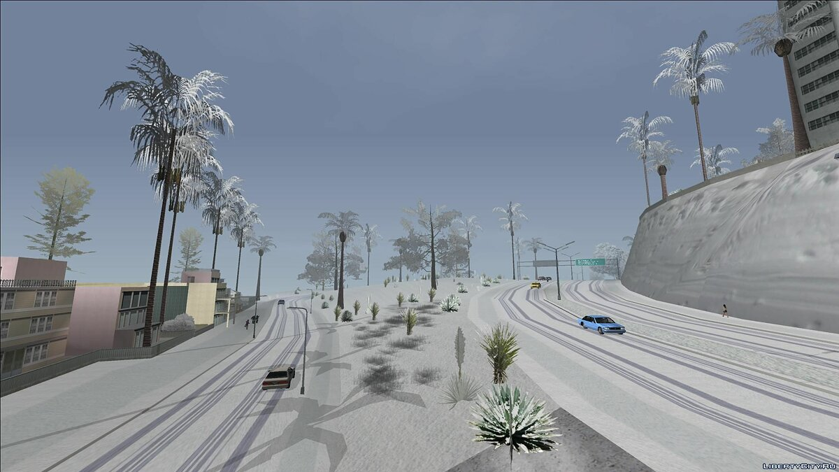 Большой мод SA Snow Conversion (22.12.19) для GTA San Andreas