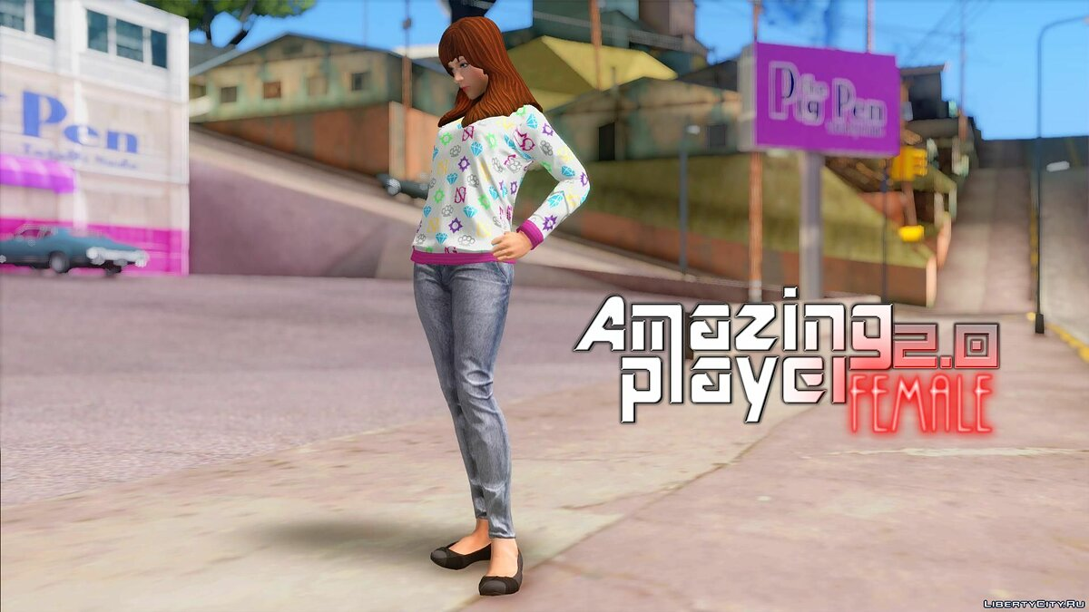 Amazing player: Female 2.0 для GTA San Andreas - скриншот #7