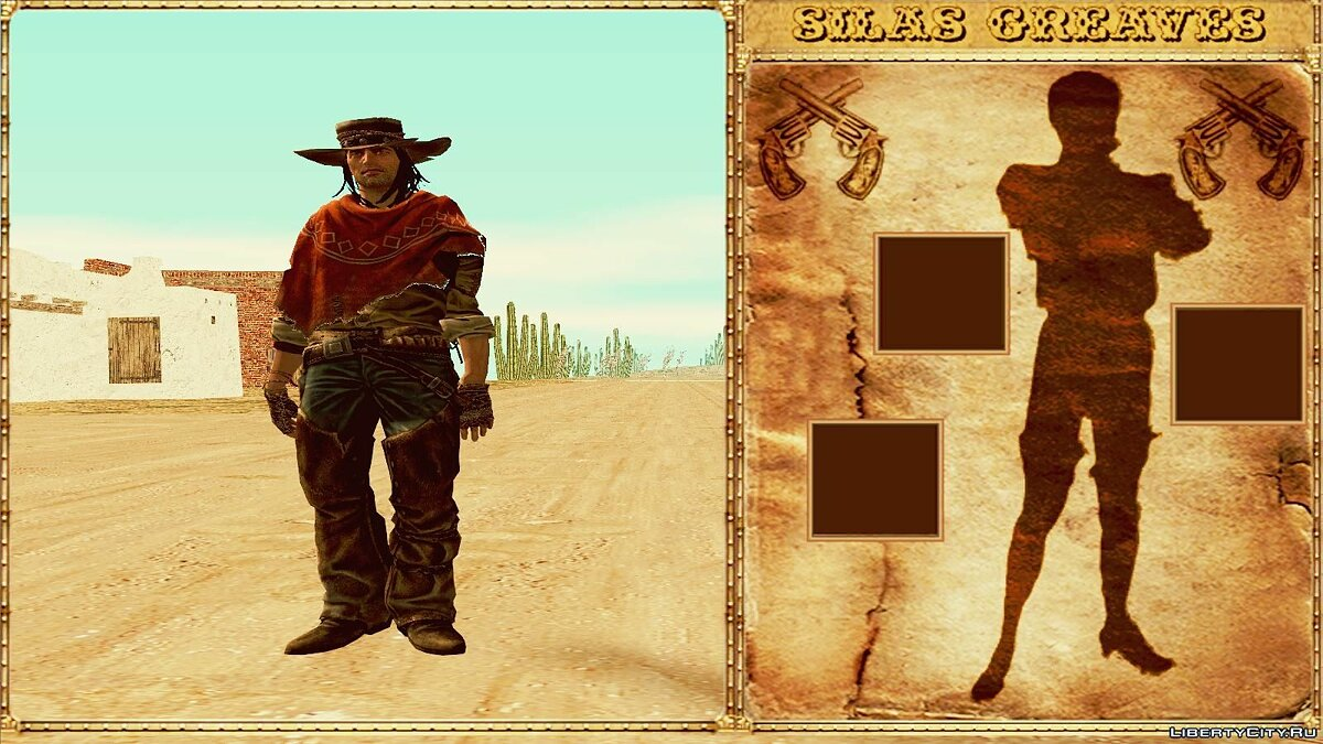GTA Red Dead Revolver Wild West Beta 1 для GTA San Andreas