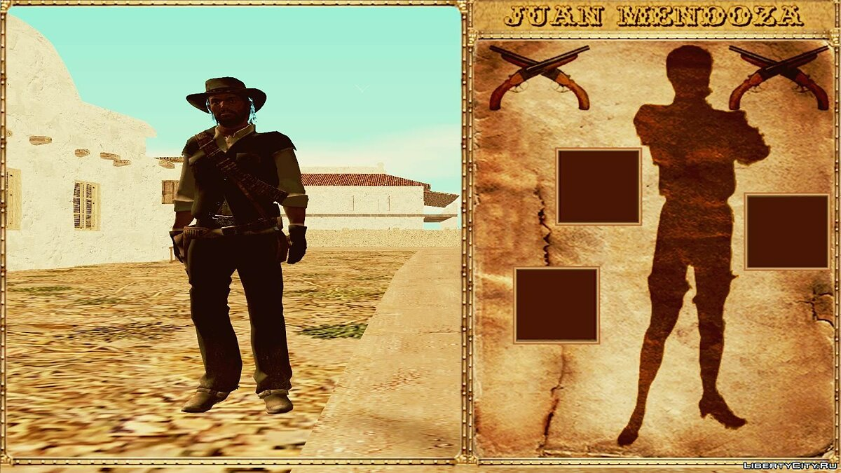 GTA Red Dead Revolver Wild West Beta 1 для GTA San Andreas - скриншот #4