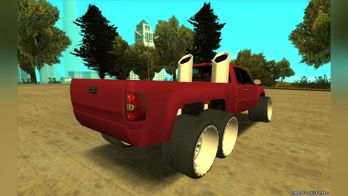 Машина GMC GMC Sierra Lifted 6x6 для GTA San Andreas