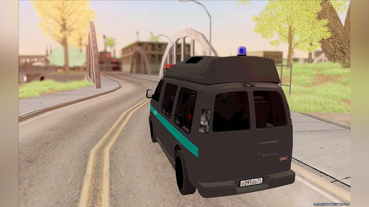 GMC Savana AWD ФСБ для GTA San Andreas - скриншот #7