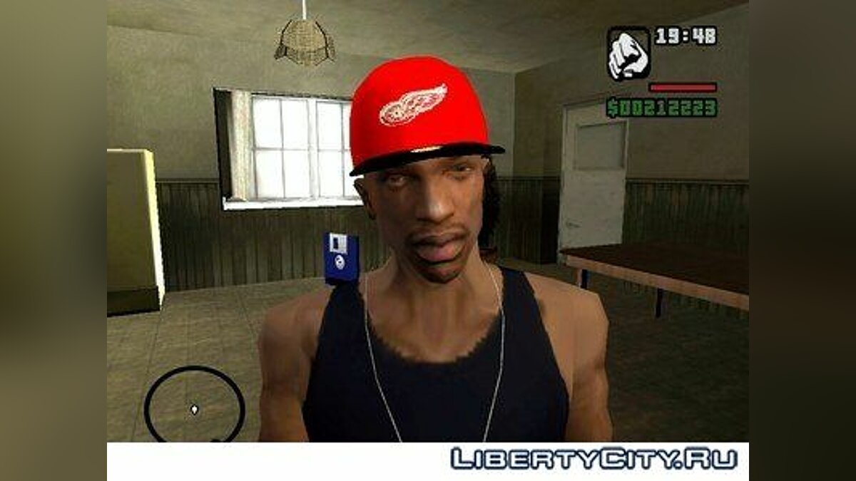 Detroit Red Wings cap для GTA San Andreas