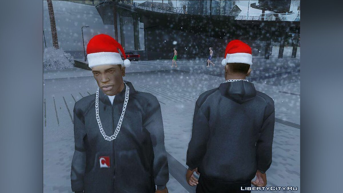 Шапка Santa Hat For CJFrom The Sims 3 для GTA San Andreas
