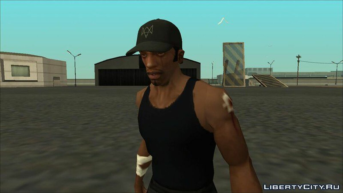 Aiden Pearce Cap For CJ для GTA San Andreas - скриншот #2