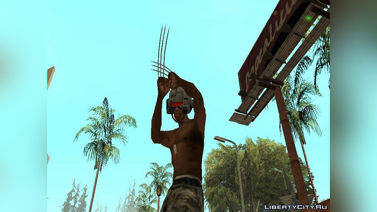 Weapon X Helmet для GTA San Andreas - скриншот #3