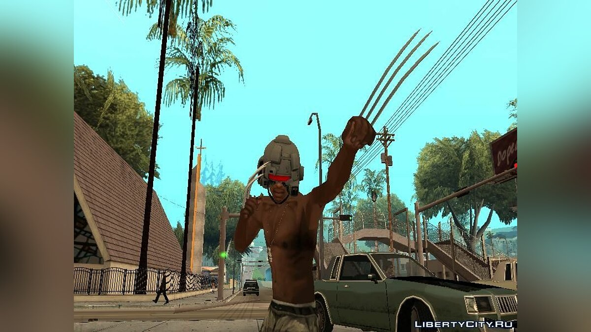 Weapon X Helmet для GTA San Andreas - скриншот #6