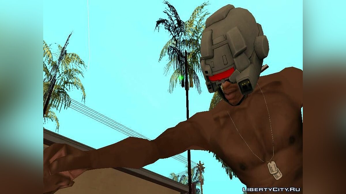 Weapon X Helmet для GTA San Andreas - скриншот #5