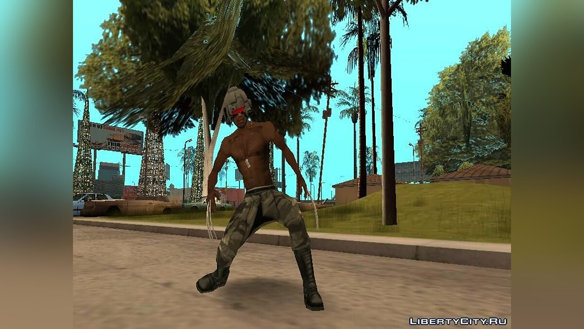 Weapon X Helmet для GTA San Andreas - скриншот #7