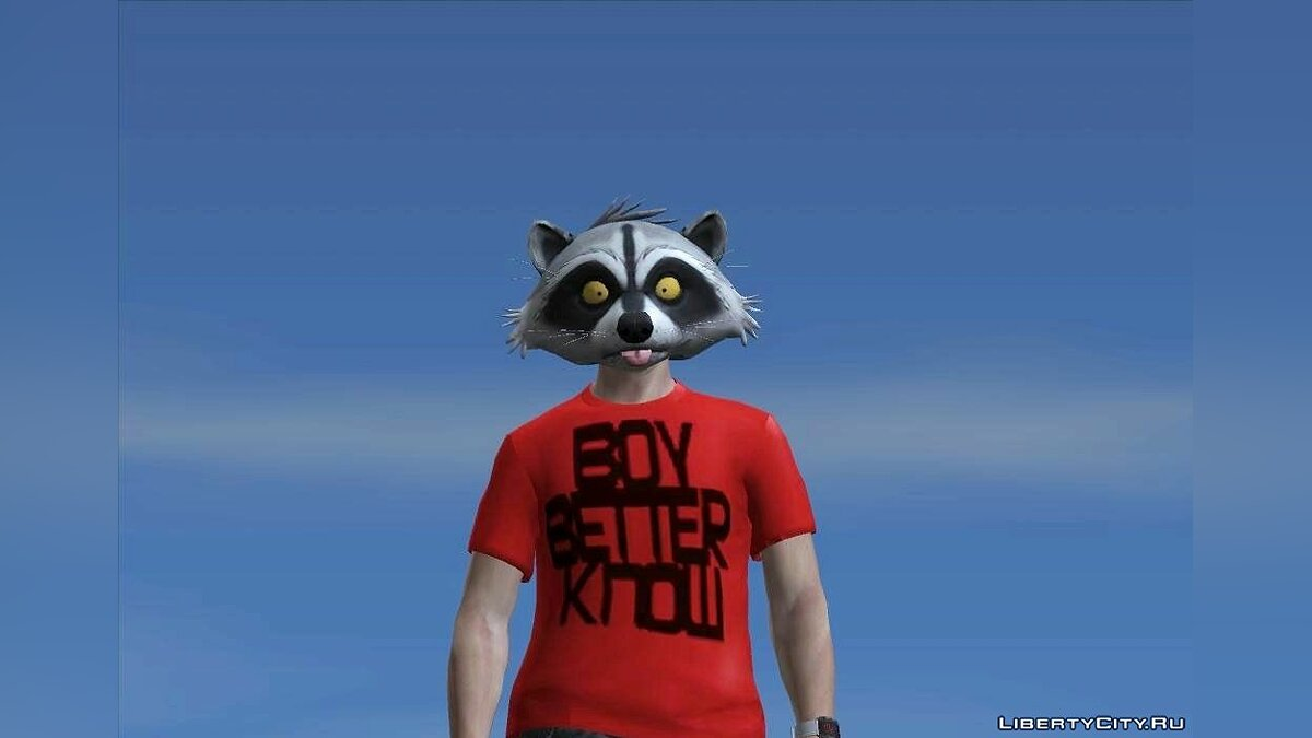 Raccoon Mask from GTA Online для GTA San Andreas