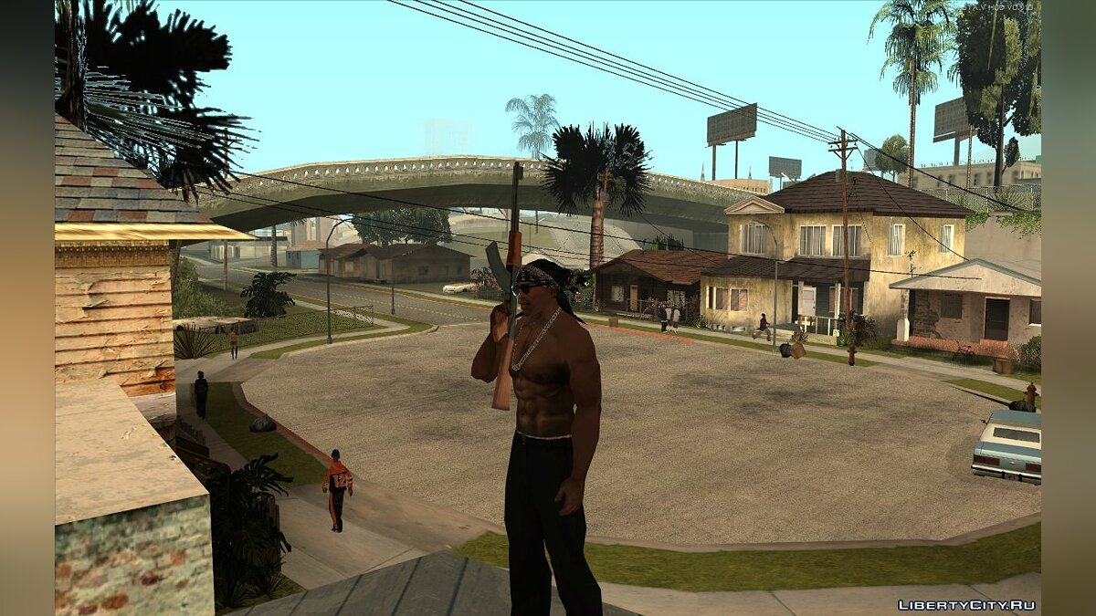 Прическа и борода Walley`s Dreads With Bandana for CJ для GTA San Andreas