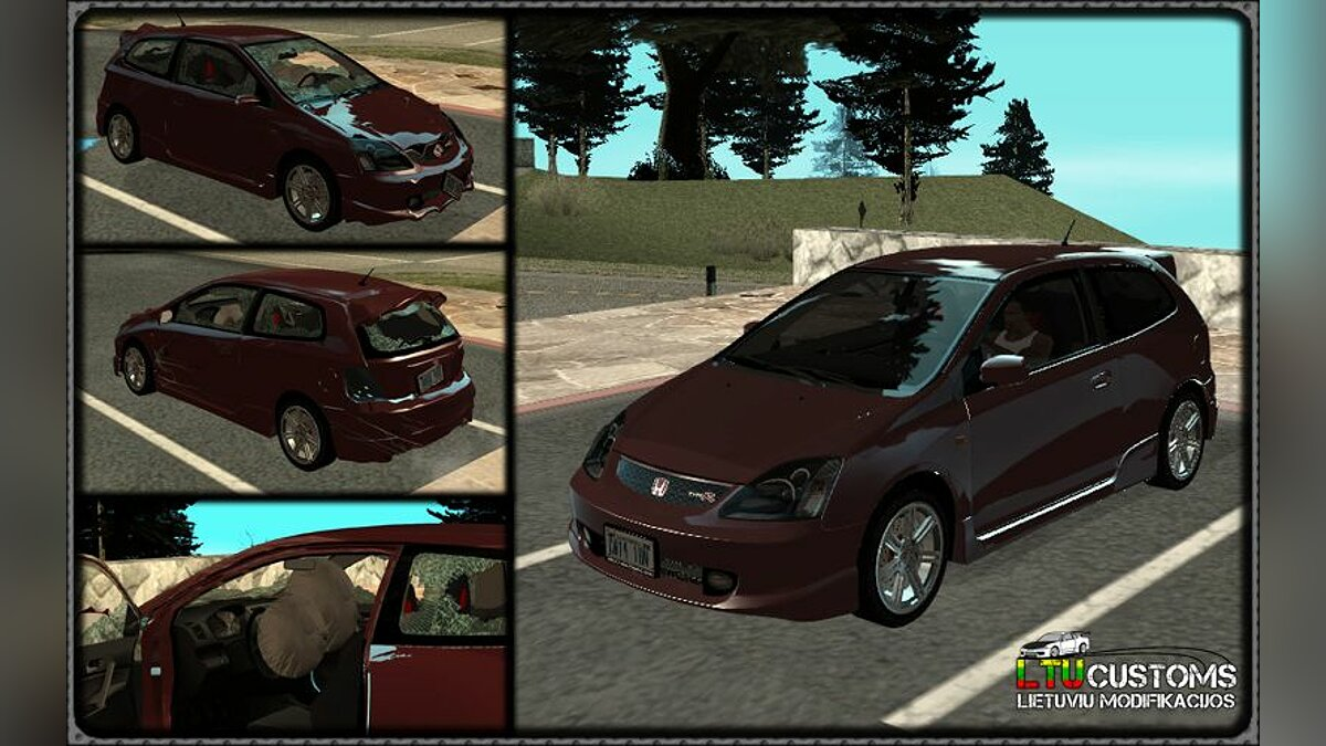 Honda Civic Type-R - Stock для GTA San Andreas