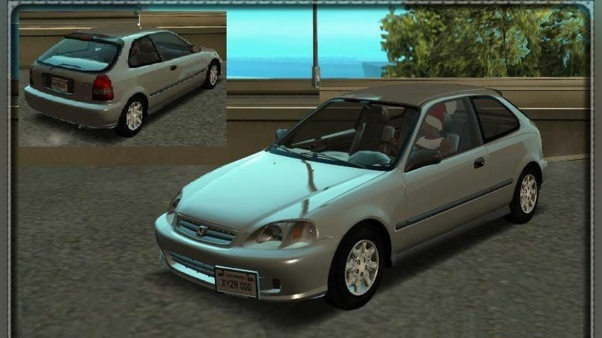 Honda Civic EK9 - Stock для GTA San Andreas